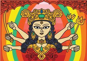 Gratis Durga Vector Achtergrond