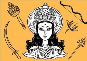 Vecteurs gratuits de Durga
