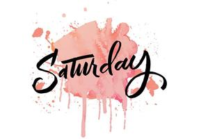 Saturday-watercolor-lettering-vector