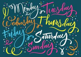 Days of the Week Lettering