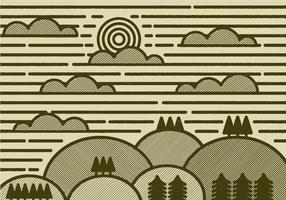 Vecteur paysage minimal