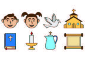 Set Of Bautizo Icons