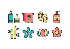 Free Spa and Beauty Icons vector