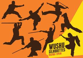 Wushu Silhouettes vector
