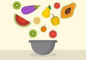 Gratis Fruit Mixing Bowl Vector