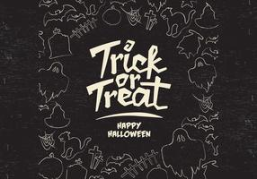 Trick-Or-Treat Border Vector