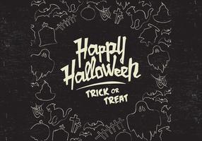 vettore di doodle di halloween