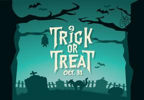 Chilling Trick-Or-Treat Vector