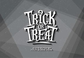 Trick-or-Treat Alten Film Vektor