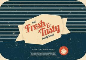 Fresh-and-tasty-coffee-label-vector