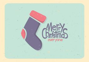 Pastel Christmas Stocking Vector