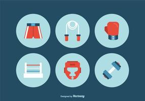 Flat Boxing Vector Icons