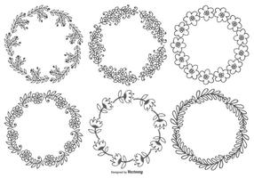 Cute Sketchy Floral Frames vector