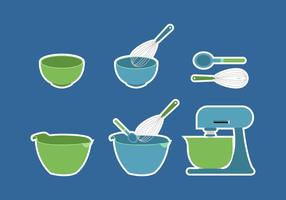 Bowl Cake Utensils vector