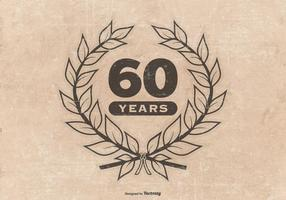 Grunge Style 60th Anniversary Illustration