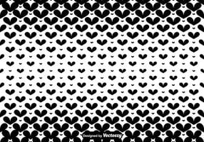 Vector Black Hearts Seamless Pattern