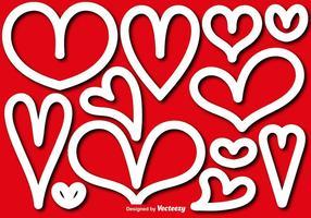 Formas vetoriais de corações
