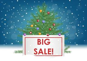 Big Sale With Sapin Tree vector