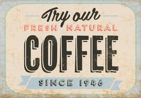 Natural Fresh Coffee Vector