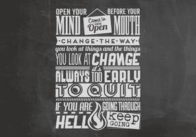 Chalkboard Motivational Quotes Vector