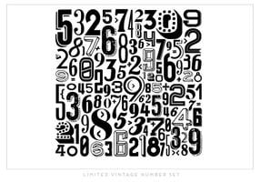 Black and White Number Vector