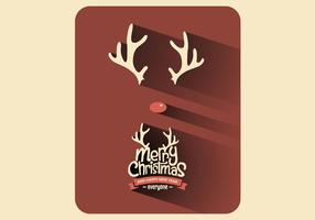 Red Nose Christmas Vector