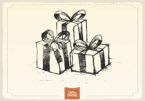 Christmas Gifts Sketch Vector