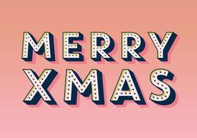 Merry Xmas Marquee Vector
