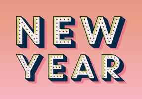 Marquee-Style New Year Vector