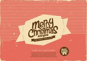 Striped Merry Christmas Label Vektor
