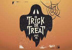 Ghost Trick-Or-Treat Vector