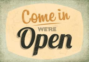 Vintage Open Sign Vector