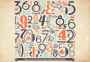 Faded Number Collection vector
