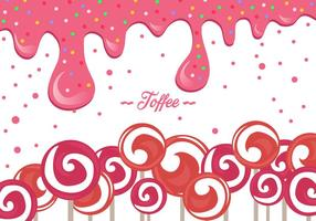 Pink Toffee Background vector