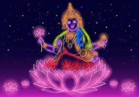 Indian Goddess Lakshmi vector