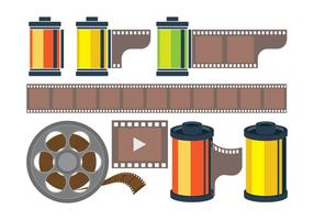 Film Canister Icons vector