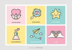 Cute Love Concepts Vector