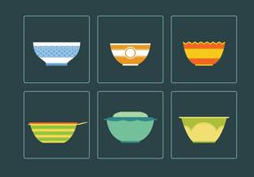 Six Beautiful Bowl Vectors
