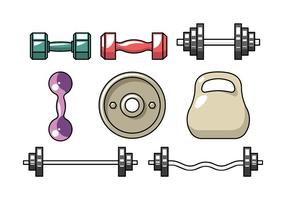 Dumbell flat icons vector