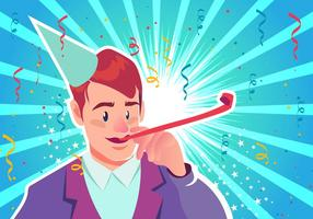 Blowing Party Blower vector