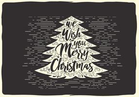Freie Weihnachten Vektor-Typografie