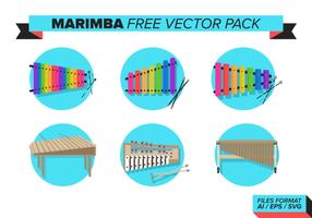 Marimba gratis vektor pack
