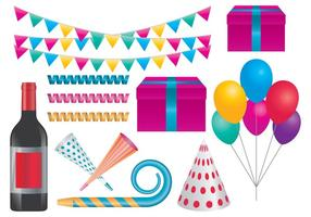 Celebration Party Items vector