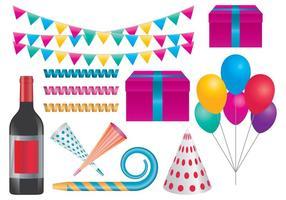 Artículos de fiesta de celebración vector