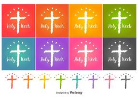 Holy Week Vector Icons