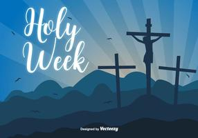 Holy Week Vector Background