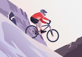 Rocky Bicycle Trail Vector