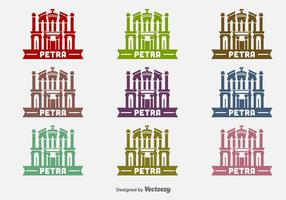 Petra Building Vector Icons
