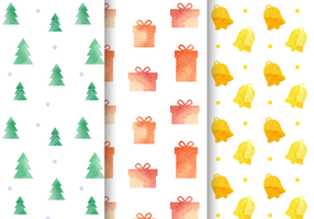 Watercolor-christmas-pattern-vector
