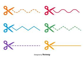 Sax prickade vektorgrader